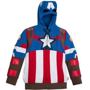 Captain America Zip Hoodie  Sweatshirt